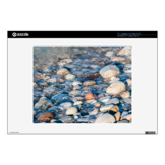 Beach stones on the lake shore decals for laptops