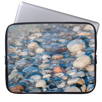 Beach stones on the lake shore computer sleeve