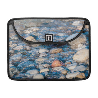 Beach stones on the lake shore sleeves for MacBooks