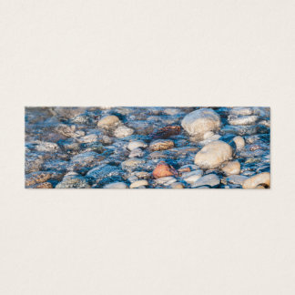 Beach stones on the lake shore mini business card