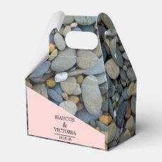 Beach Stones Pebbles Wedding Favor Box