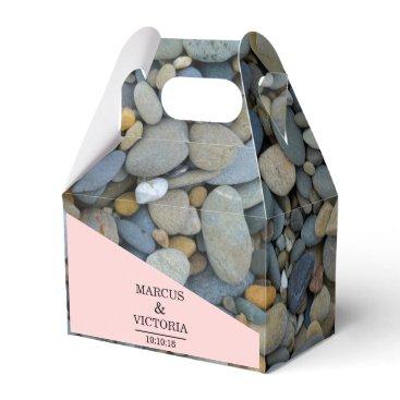 Beach Themed Beach Stones Pebbles Wedding Favor Box