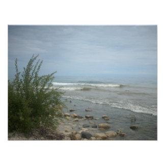 Beach Storm Clouds Custom Invitations
