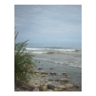 Beach Storm Clouds Custom Letterhead