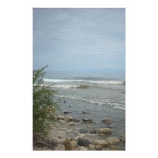 Beach Storm Clouds Custom Stationery