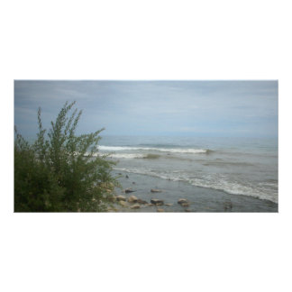 Beach Storm Clouds Photo Card Template