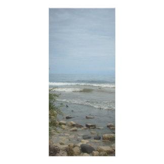 Beach Storm Clouds Rack Card