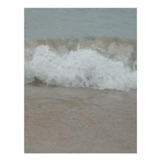 Beach Storm Surf Letterhead Template