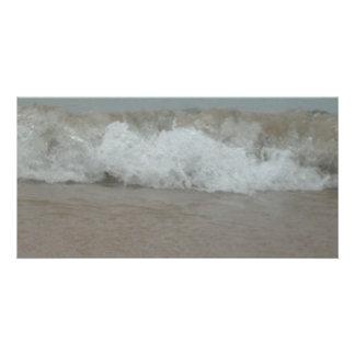 Beach Storm Surf Photo Card