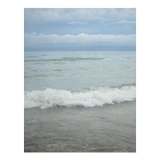 Beach Storm Waves Customized Letterhead
