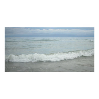 Beach Storm Waves Personalized Photo Card