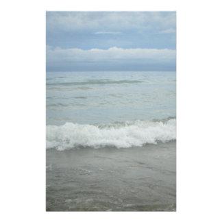 Beach Storm Waves Stationery