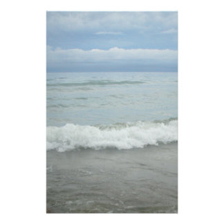 Beach Storm Waves Stationery Paper