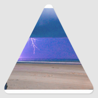 beach Storms are beautiful to watch Triangle Sticker