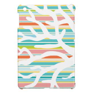 Beach Stripes and Coral iPad Mini Case