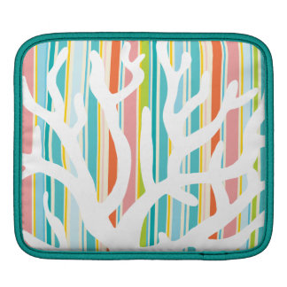 Beach Stripes and Coral iPad Sleeve
