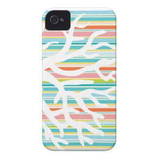 Beach Stripes and Coral Phone Case