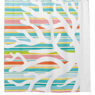 Coral Shower Curtains | Zazzle