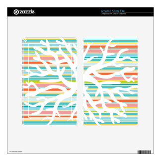 Beach Stripes and Coral Tablet Skin Kindle Fire Skin