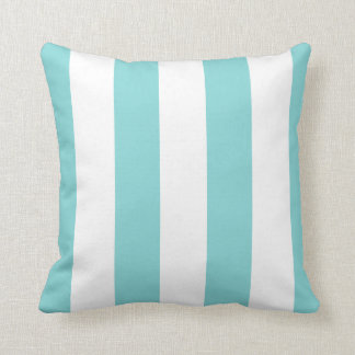 Beach Stripes Wide CHOOSE YOUR BACKGROUND COLOR Throw Pillow
