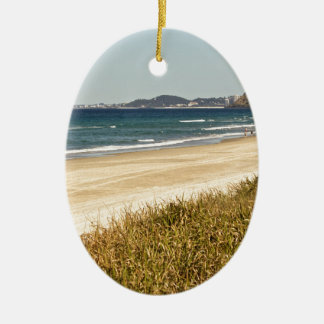 Beach Stroll Ceramic Ornament