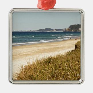 Beach Stroll Metal Ornament