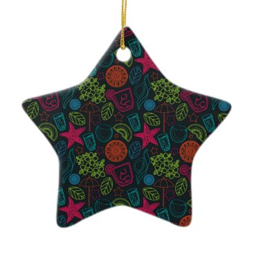 Beach Themed Beach style design for hot summer days with fruit ceramic ornament