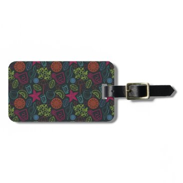 Beach Themed Beach style design for hot summer days with fruit luggage tag