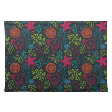 Beach Themed Beach style design for hot summer days with fruit placemat
