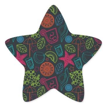 Beach Themed Beach style design for hot summer days with fruit star sticker