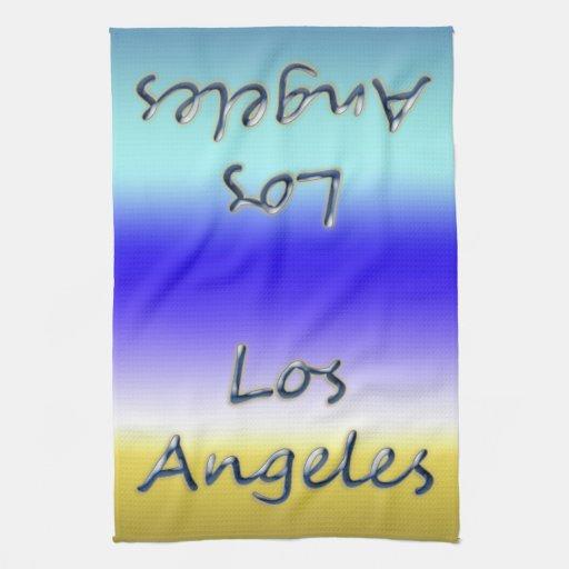 Beach Style Los Angeles - Beach Background Hand Towel