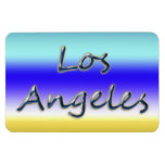 Beach Style Los Angeles - Beach Background Vinyl Magnet