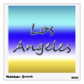 Beach Style Los Angeles - Beach Background Wall Decal