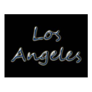 Beach Style Los Angeles - On Black Postcard