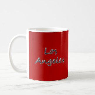 Beach Style Los Angeles - On Red Coffee Mug