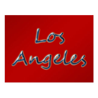 Beach Style Los Angeles - On Red Postcard