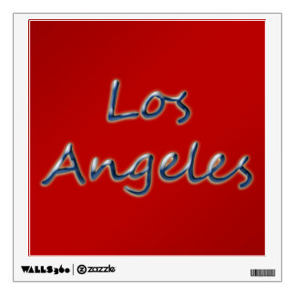 Beach Style Los Angeles - On Red Wall Sticker