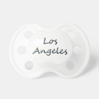 Beach Style Los Angeles - On White Baby Pacifier