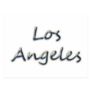 Beach Style Los Angeles - On White Postcard