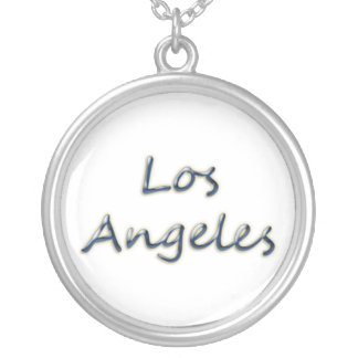 Beach Style Los Angeles - On White Silver Plated Necklace