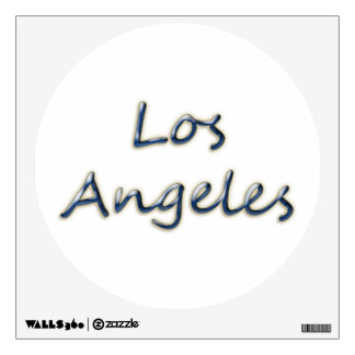 Beach Style Los Angeles - On White Wall Decal