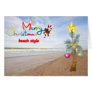 """BEACH STYLE"" MERRY CHRISTMAS TO YOU CARD"