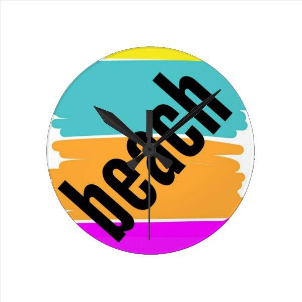 beach style round clock