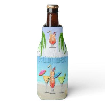 Beach Themed Beach Summer Cocktails Bottle Cooler