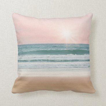 Beach Themed Beach Summer Fun Photo Pillow