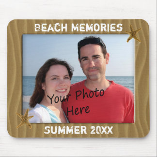 Beach Summer Memories Photo Frame Mousepad