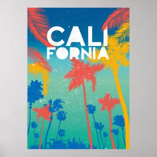 Beach Summer Theme California Poster art