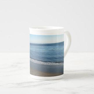 Beach, Summerland, California Bone China Mugs