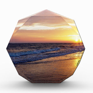 Beach Sun Down Acrylic Award