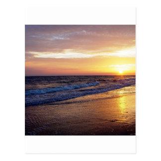 Beach Sun Down Postcard